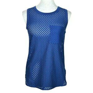 Banana Republic Blue Mesh Muscle Shirt XS